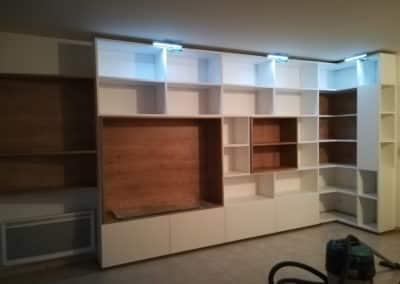 Aménagement--bibliothèque-deco-pau-statifié-blanc-chene-début-travaux-Atelier-Richard-6