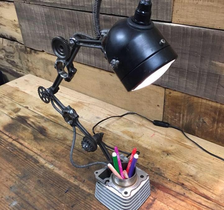 Lampe déco steampunk à la mode Béarnaise