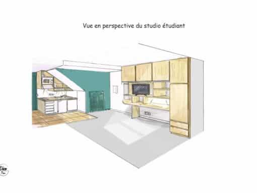 Aménagement d'un logement étudiant palois