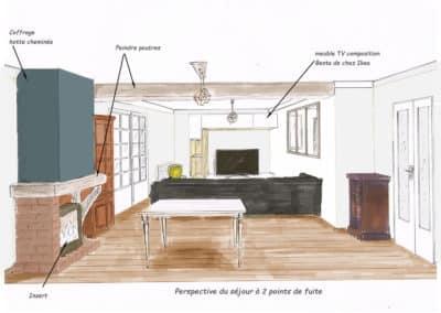 Rénovation et aménagement d'un séjour et cuisine