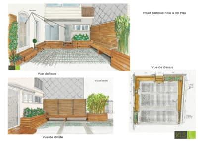 Aménagement-espace-détente-entreprise-exterieur-KLS-Menuiserie-D'éco Pau