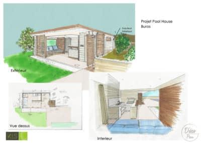 Création d'un Pool house- KLS-Menuiserie-Déco Pau