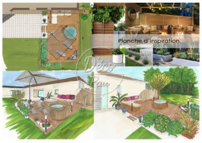 Aménagement-extérieur-terrasse bois et spa -KLS-menuiserie-déco-pau